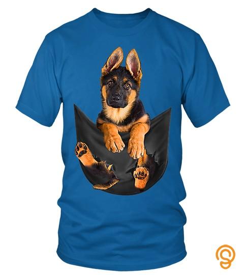 German Shepherd In Pocket Shirt Funny Dog Lover Gifts T-Shirt