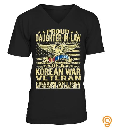 Proud Daughter-In-Law Korean Veteran Shirt Military Gifts
