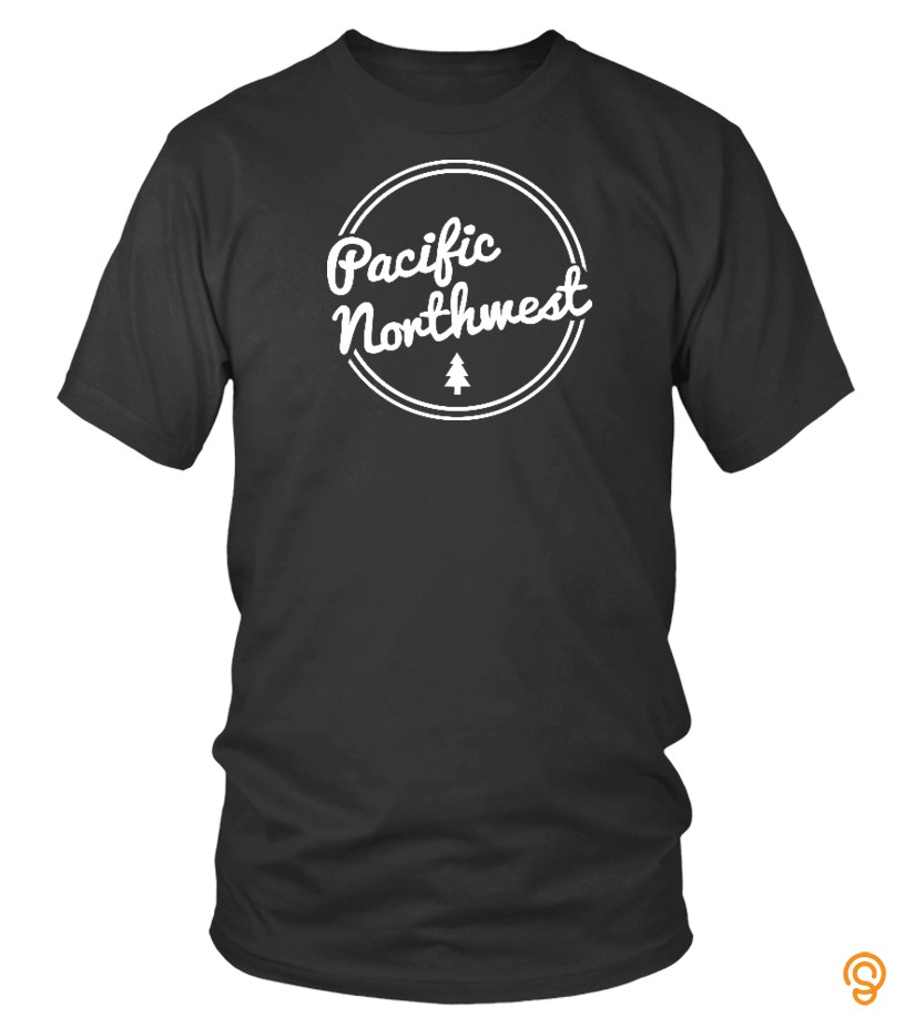 Plus Size Pacific Northwest Retro Script T Shirts Buy Now