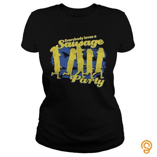 Romantic EVERYBODY LOVES A SAUSAGE PARTY TShirts  Mens Premium TShirt T Shirts Buy Online