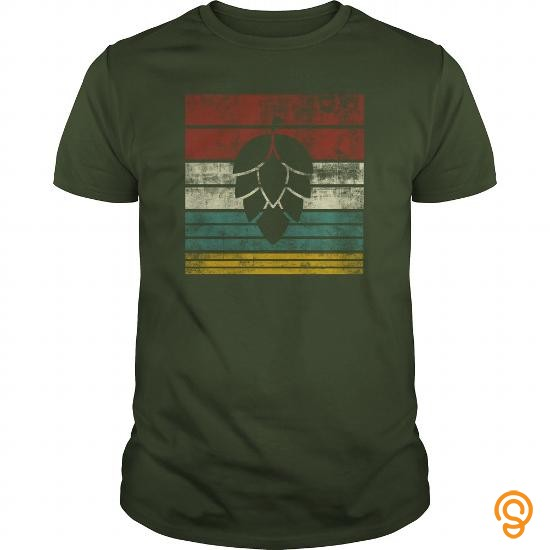 Fabric Vintage Hop Leaf Silhouette Tee Shirts Buy Now