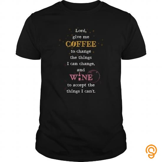 Personalised Coffee And Wine Tee Shirts Clothing Brand