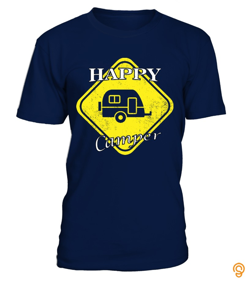 Embellished Happy Camper T Shirts For Adults