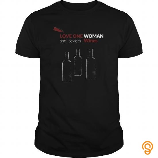 Premium Love one woman and several wines   Men's T Shirt Tee Shirts Apparel
