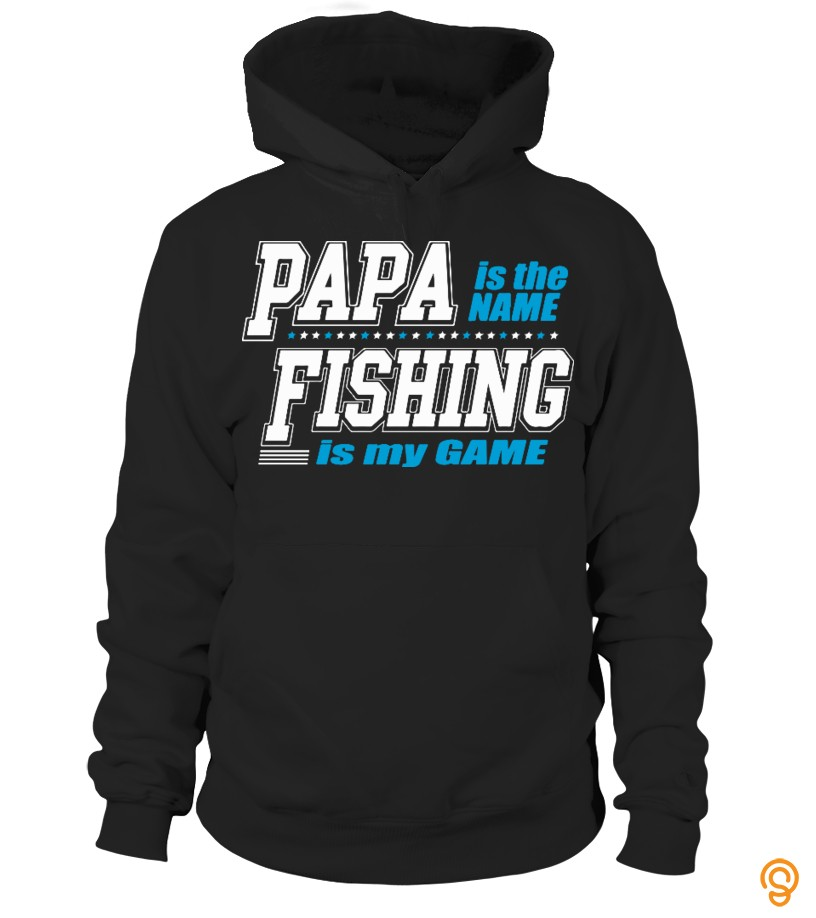 Everyday Papa Is The Name Fishing Is My Game Tee Shirts Size Xxl