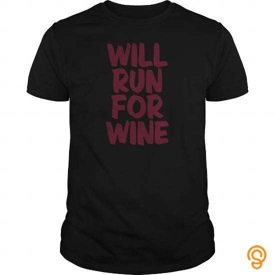 Full-priced WILL RUN FOR WINE Underwear   Women's String Thong T Shirts For Adults
