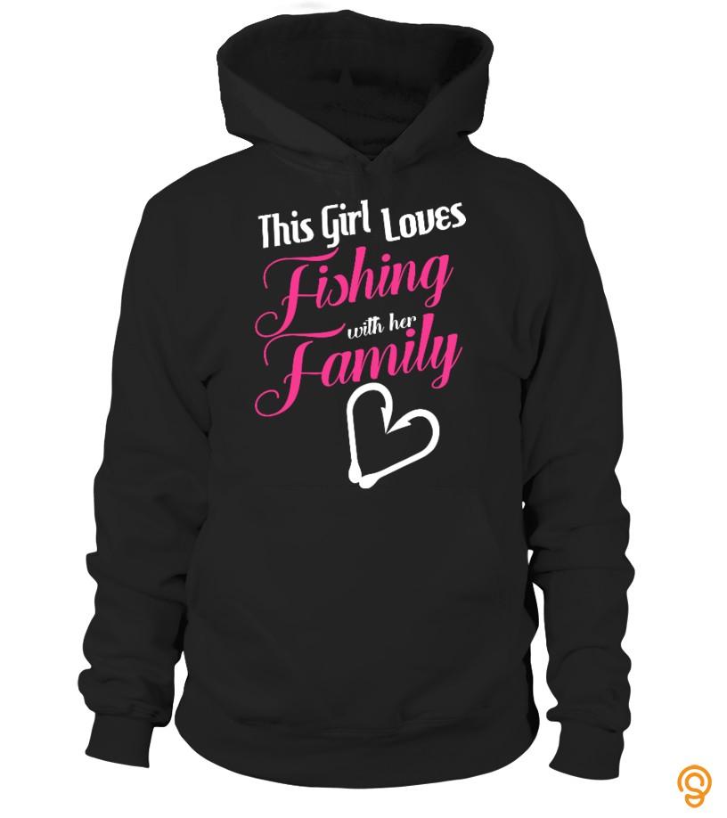 Classic THIS GIRL LOVES FISHING  tshirt Tee Shirts Wholesale