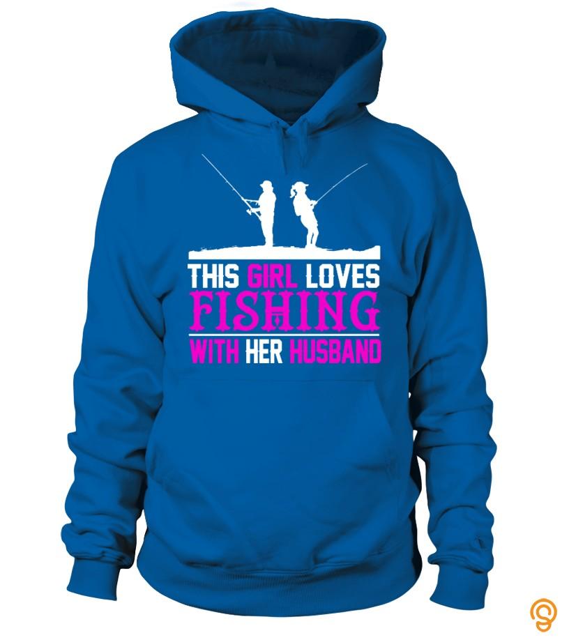 Funny Girl fish with her husband TSHIRT Tee Shirts Sayings