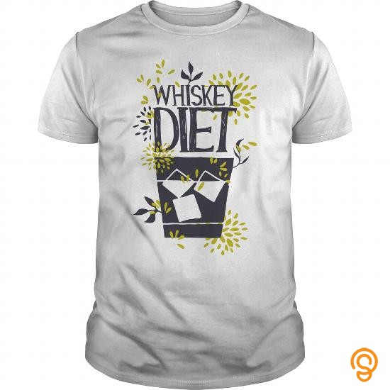 Comfy WHISKEY DIET T Shirts Screen Printing