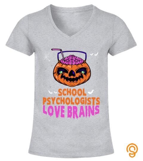 School Psychologists Love Brains Halloween Costume Pumpkin Sweatshirt