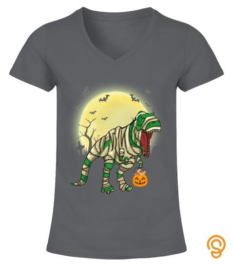 Halloween Shirts Dinosaur T Rex Mummy Pumpkin