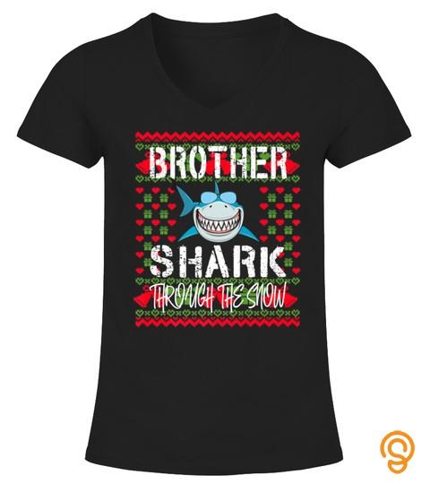 Brother Shark Matching Family Group Christmas Tshirt   Hoodie   Mug (Full Size And Color)