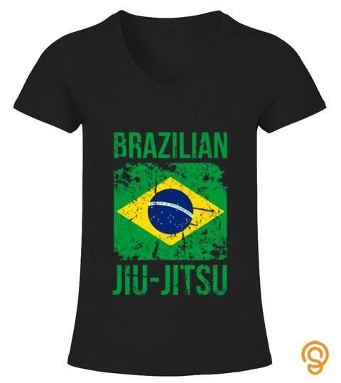 Bjj Brazilian Jiu Jitsu Flag Martial Arts T Shirt Tshirt