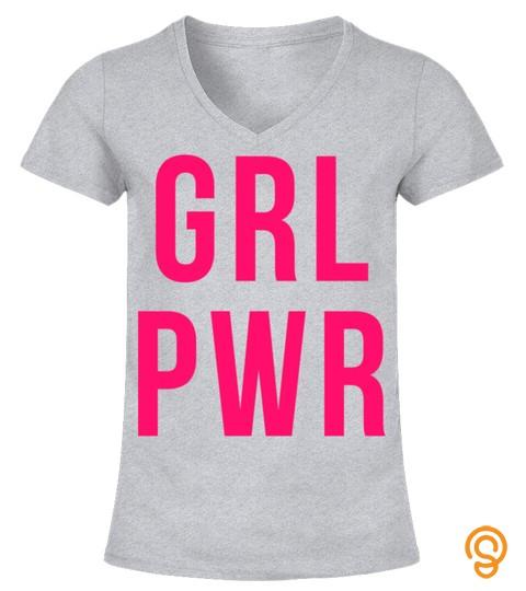 Grl Pwr Hoodie Hooded Sweatshirt   Girl Power Feminist Shirt