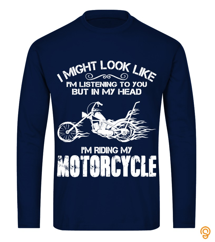 Crisp I'm Riding My Motorcycle ! Tee Shirts Sayings
