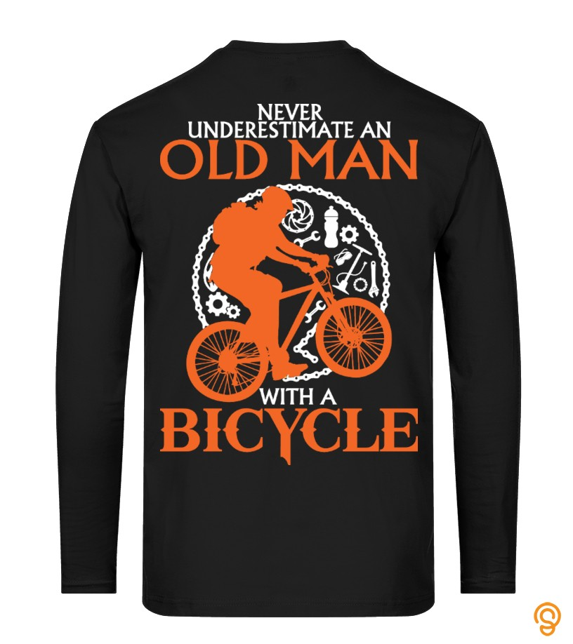 Old Man With A Bicycle   Back