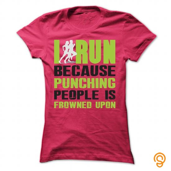 custom-i-run-because-punching-people-is-frowned-upon-t-shirts-wholesale