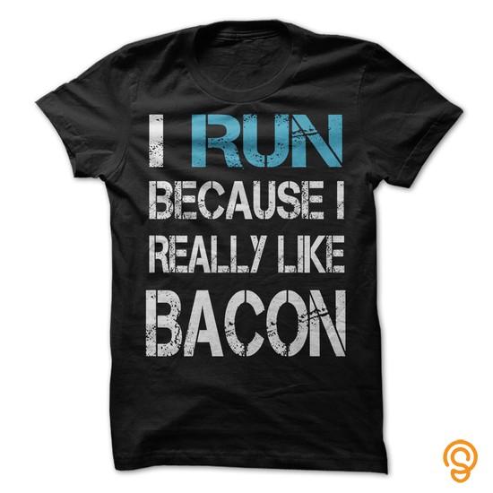 brand-i-run-because-i-really-like-bacon-tee-shirts-graphic