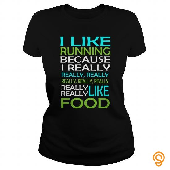 cushioned-i-like-running-because-i-really-like-food-tee-shirts-graphic
