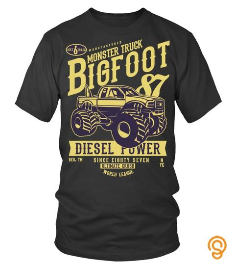 Monster Truck Bigfoot T Shirt