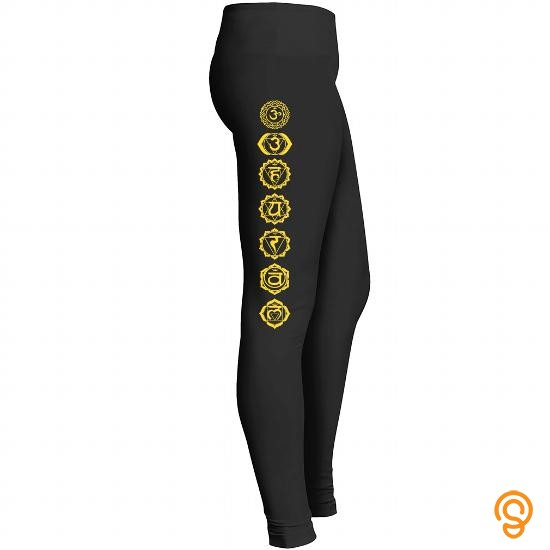State-of-the-art Chakras Symbol Leggings Tee Shirts Screen Printing