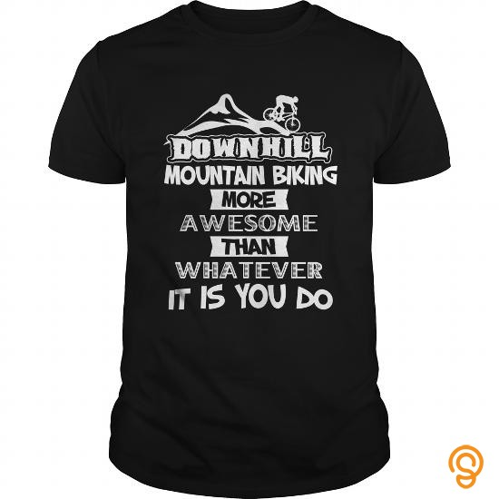 Classic Mountain Biking T Shirt Downhill Mountain Biking Awesome Tee T Shirts Buy Now