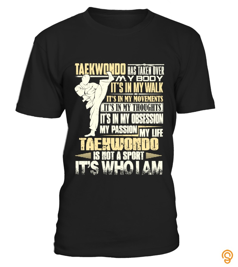 Printed Taekwondo is not a sport Tee Shirts Quotes