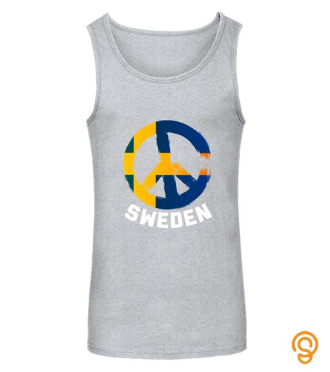 Sweden Peace Sign T Shirt