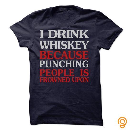 Quality I drink whiskey AC Tee Shirts Sayings Men
