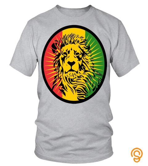 Lion Of Judah Rastafari Lion  T Shirt