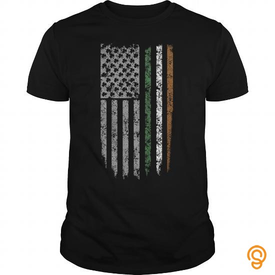 Personal Style Irish US Flag Shirt T Shirt Tee Shirts For Adults