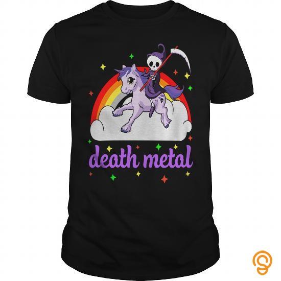 Wardrobe Death Metal Rocker  Unicorn T Shirt by tshirttrending    CVBWJAU Tee Shirts Sale