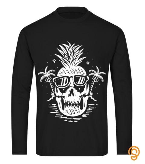 Halloween T Shirt Skull Pineapple T Shir