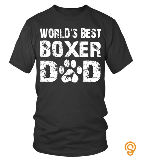 Worlds Best Boxer Dad Dog Paw Cute Lover Happy Family Man Father Daddy Day Daughter Son Best Selling T Shirt