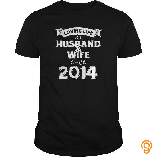 Handsome Husband And Wife Since 2014 Tee Shirts Saying Ideas