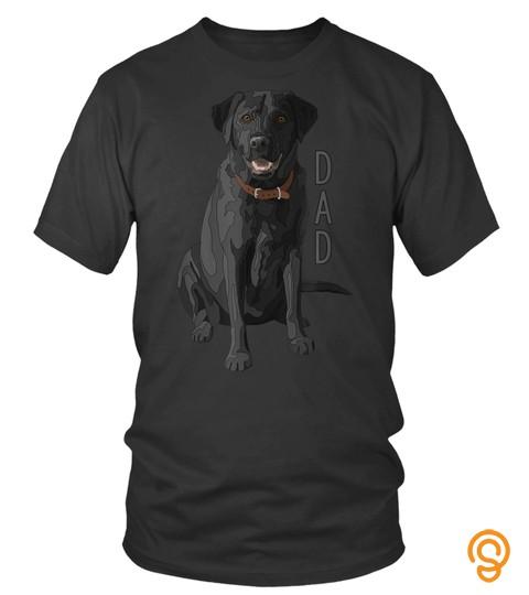 Dog Tshirt   Lab Dad Black Labrador Retriever Dog Lover Tshirt