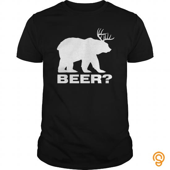 Cushioned Funny Beer Bear Deer Hunting T Shirt T Shirts Clothes