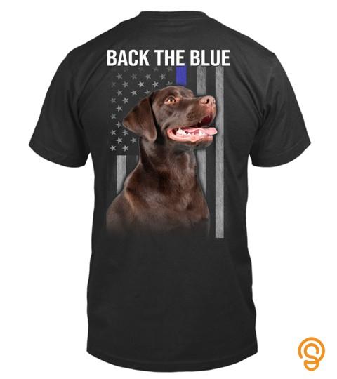 Chocolate Labrador    Back The Blue