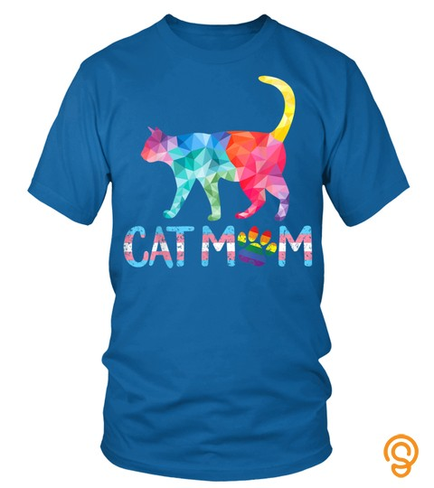 Cat Mom Lgbt Gay Pride Rainbow Transgender Trans Women Gifts T Shirt