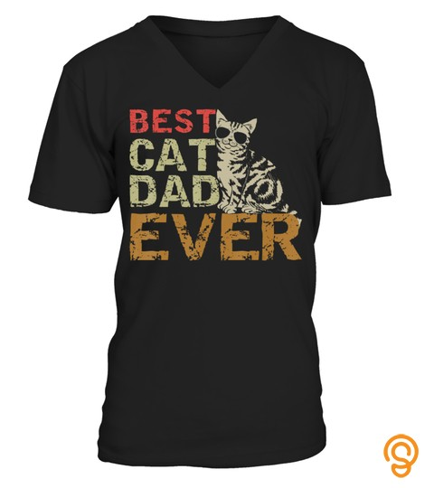 Best Cat Dad Ever T-Shirt Funny Cat Daddy Lover Gift Shirts T-Shirt