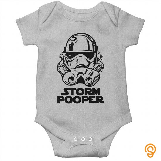 Eco-friendly Storm Pooper Baby Onesie T Shirts For Sale