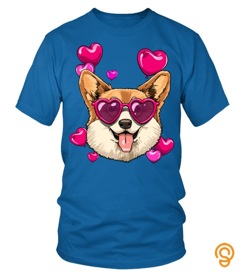Corgi Valentines Day Shirt Heart Dog Lover Gift Sweatshirt