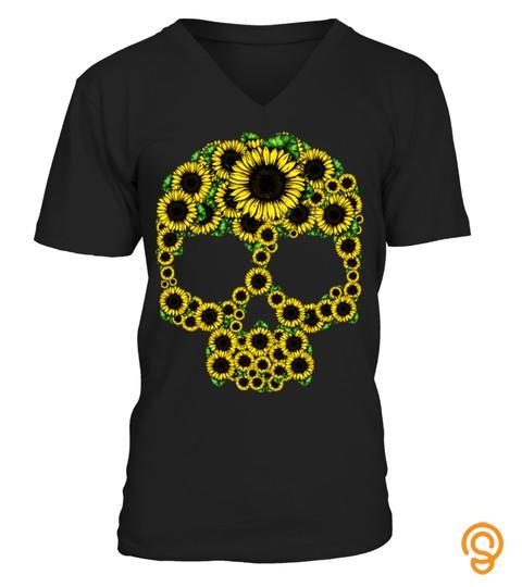 Skull Sunflower Floral Hoodie Gift