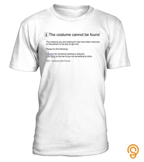 Funny 404 Error Costume Halloween Tshirt