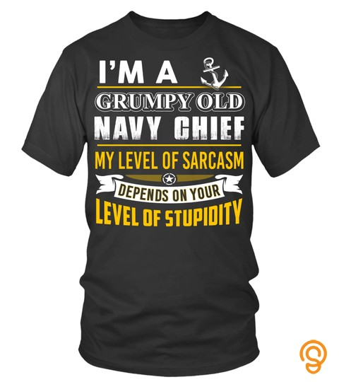Navy Chief T Shirt Im A Grumpy Old Navy Chief