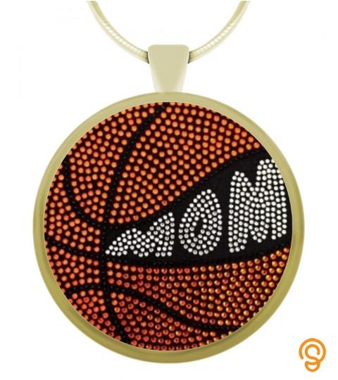 Basketball Mom  - Circle Pendant