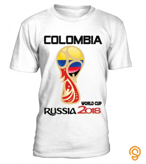 Colombia T Shirt Russia 2018 World