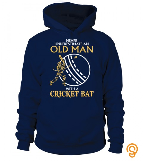 Old Man With Cricket Bat