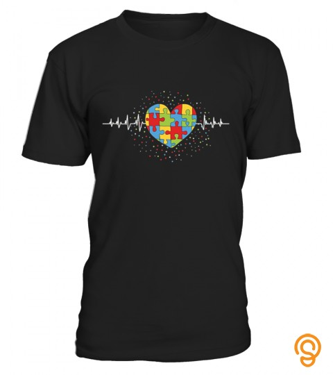Autism Heart T Shirt Autism Awareness