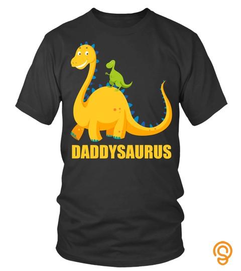 Daddysaurus Tshirt Funny Dinosaur For Dad
